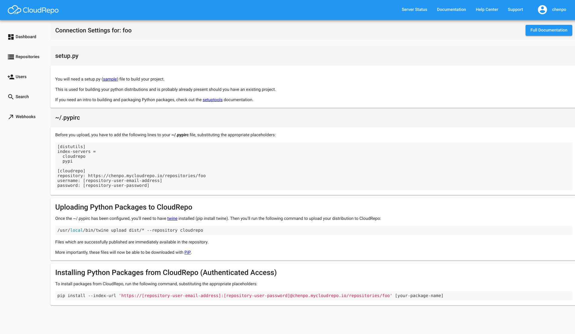 Repository Management — CloudRepo Documentation